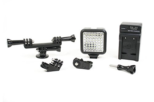 Phonoscope | LED Lighting Kit with Dual Mount Setup. Add Studio Quality Light to Any Tripod or GoPro Compatible Mount System. (LED Light Kit Add-On)