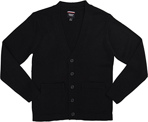 French Toast School Uniform Boys Anti-Pill V-Neck Cardigan Sweater, Navy, Medium (8) (Boys Uniform Sweater)