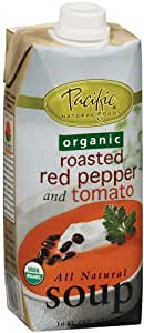 Pacific Natural Foods Organic Soup, Roasted Red Pepper and Tomato, 16-Ounce Cartons (Pack of 12)