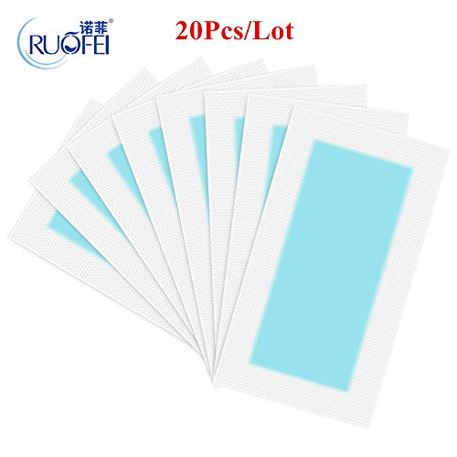 20pcs=10sheets Summer New Hot Sale Professional Hair Removal Double Sided Cold Wax Strips Paper For Leg Body Face from LKForward_Beauty and Health