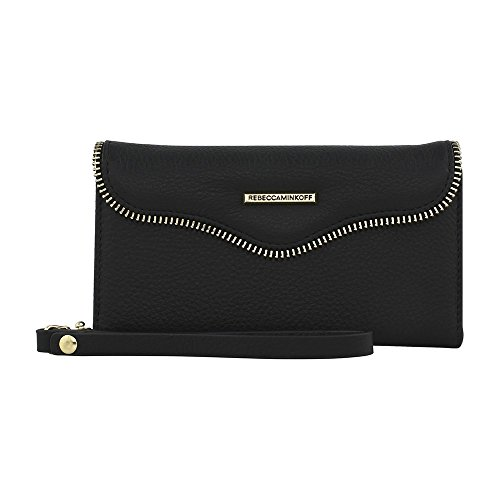 Rebecca Minkoff M.a.b. Tech Wristlet with Charging-Iphone Next, Black by Rebecca Minkoff