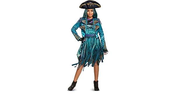Amazon.com: Girls Deluxe Disney Descendants 2 Isle Look Uma Costume Bundle Large 10-12: Clothing