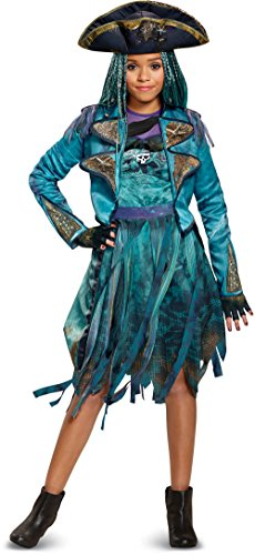Costume 2 - Disney Uma Deluxe Descendants 2 Costume, Teal, Medium (7-8)