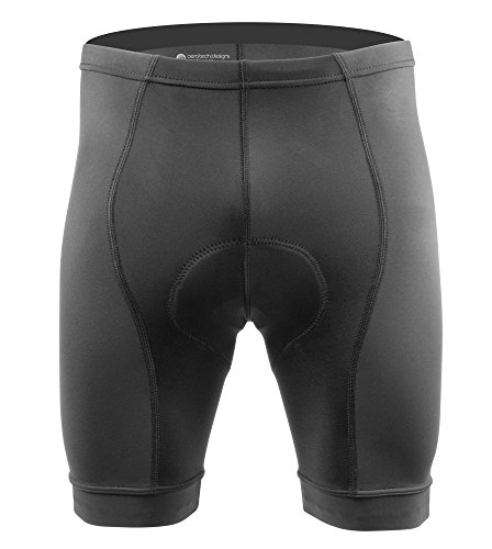 AERO|TECH|DESIGNS Men's Elite Padded Cycling Shorts - 3 Colors - Made in the USA (XX-Large, Black) - Elite Jersey Shorts