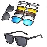 YHNSHKHKU Magnet Sunglasses Clip Mirrored Clip On Sunglasses Clip On Glasses Men Polarized Custom Prescription Myopia Ct2202A