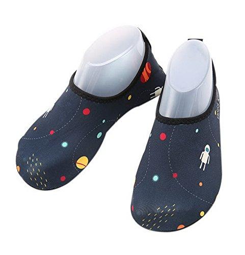 Kinder Tauchen Schuhe rutschfeste Tretmühle Schuhe Sandalen Schwimmen Schuhe Starry Sky