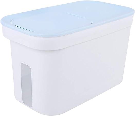 Jlxl 15L Grande Contenedor De Comida para Mascotas, Perro Gato Almacenamiento 8kg Comida Seca Caja con Ruedas Linea de Medicion (Color : Azul): Amazon.es: Hogar