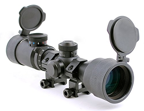 Hammers Illuminated Riflescope Compact Short Rifle Scope BDC 3-9x42GDT w/Weaver Rings (Best Compact Rifle Scope For The Money)
