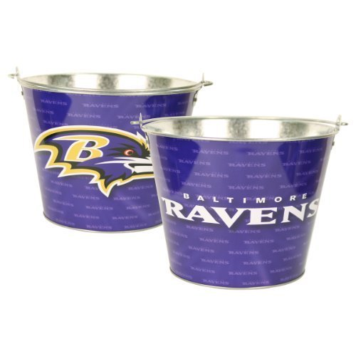 Baltimore Ravens Bucket (Baltimore Ravens Team Color Metal Beer Bucket)