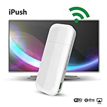 Ships in 24 hours iPush D2 Multi-Media WiFi DLNA AirPlay Display Receiver for IOS Smart Android TV Box Stick Media Player Mini PC HDMI TV Antenna
