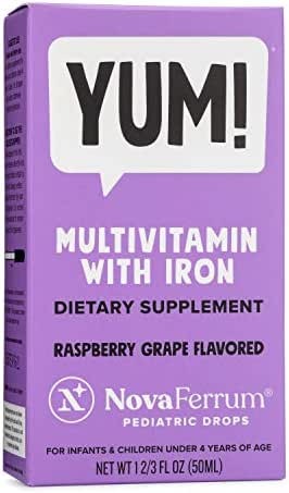 NovaFerrum Multivitamin with Iron Supplement for Infants and Toddlers 50 mL