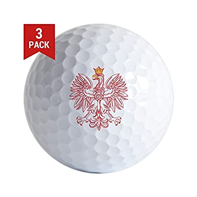 CafePress - Polish Eagle Outlined in Red - Golf Balls (3-Pack), Unique Printed Golf Balls