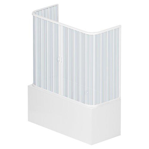 Dim.70 x 170 x H 150 cm in PVC Due Ante a Tre Lati con Apertura Centrale Bianco Rollplast BVES1CONCC28170 Box Vasca a Soffietto