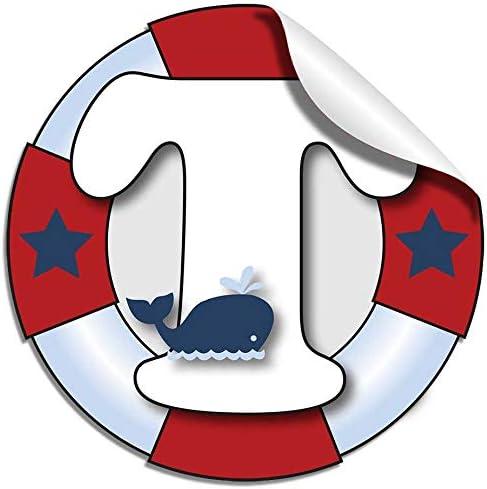 Pared cartas náuticas océano vela rojo blanco azul carta pegatinas alfabeto inicial vinilo adhesivo kid adhesivos decoración cuarto de niños bebé ...