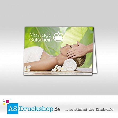 Gutschein Massage - Nackenmassage   100 Stück   DIN A6 B079Q1KYRQ | Qualitätsprodukte