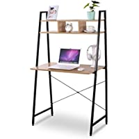 WOLTU Computer Desk Bookshelves Sturdy Office Computer Table Modern Simple Design for Home Office Use