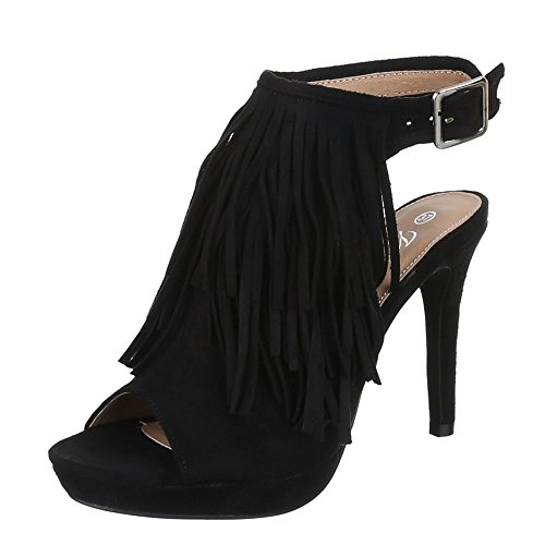 Ital-Design - Plataforma Mujer Negro - negro