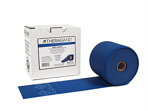 - Thera-Band Latex-Free Resistance Band-50 Yd-Blue(X-Heavy) by TheraBand