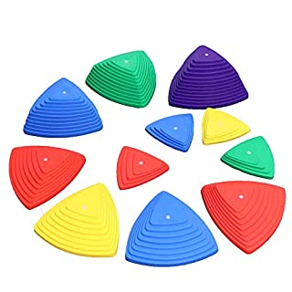 Stepping Stones for Kids Balance with Non-Slip Bottom - Exercise Coordination and Stability 11pcs