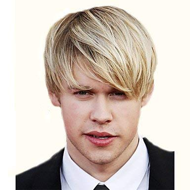 Men's Women's Synthetic Wig Short Curly Blonde With Bangs Natural Wigs Celebrity Wig Halloween Wig Carnival Wig Costume Wig ()