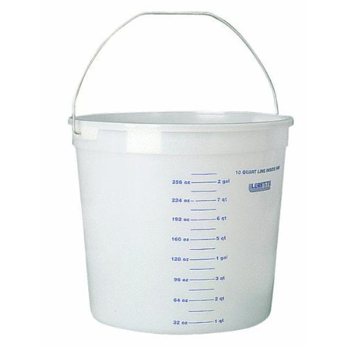 Leaktite 35012 11 Clear 10 Qt Clear Polysteel Rim Plastic Pail