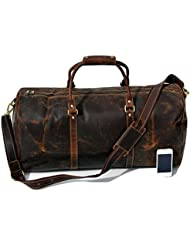 Urban Dezire Vintage Hunter Buffalo Leather Men Travel Duffel Bag