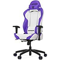 Vertagear SL2000_WP S-Line 2000 Racing Series Gaming Chair, Large, White/Purple