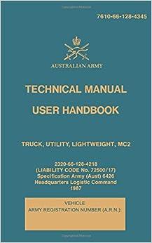 Technical Manual User Handbook Truck, Utility, Lightweight, MC2: 7610-66-128-4345