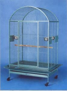 Extra Large Wrought Iron Bird Cage Parrot Cages Macaw Dometop 40 x30 x67 H