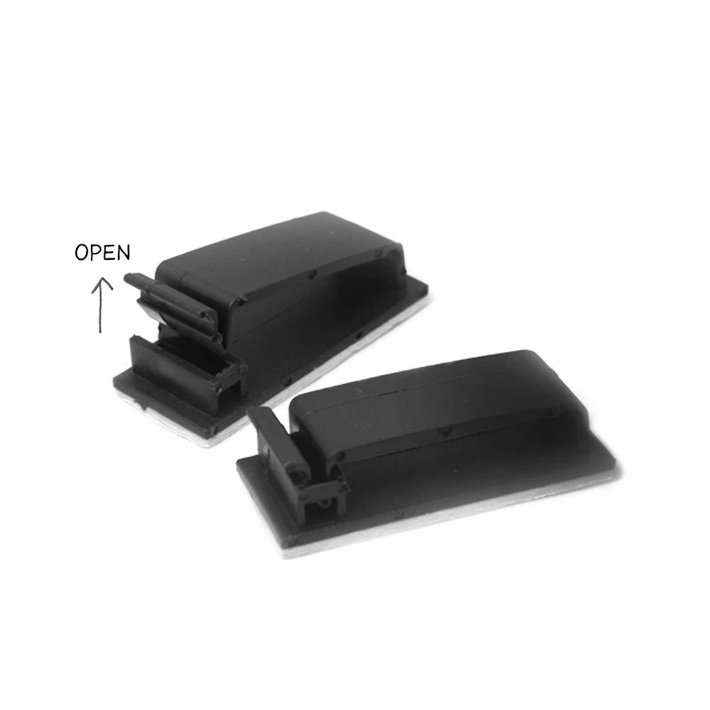 laptop per TV casa morsetti multiuso fascette adesive ufficio 70 clip per la gestione dei cavi desktop PC