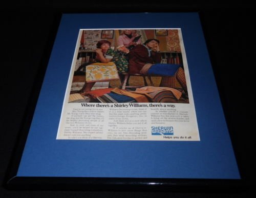 1974-sherwin-williams-framed-11x14-original-vintage-advertisement