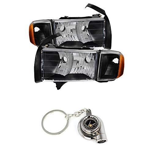 for Dodge Ram Sport Model Only OEM headlights Black