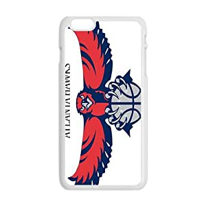 Atlanta Hawks NBA White Phone Case for iPhone plus 6 Case
