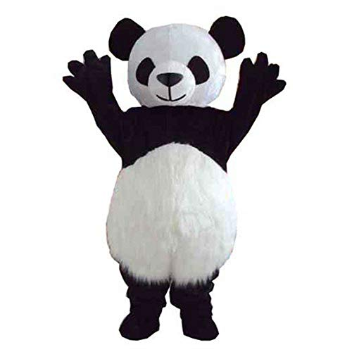 Giant Panda Mascot Costume Outfit Adult Size Halloween Fancy Dress Cartoon Party Prop (M - 5'7'' to -