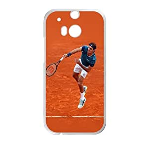 HTC One M8 Cell Phone Case White hb45 roger federer sports tennis Zypox