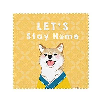 Toallitas de limpieza, bonito diseño de perro para limpiar llaveros, gafas, gamuza de