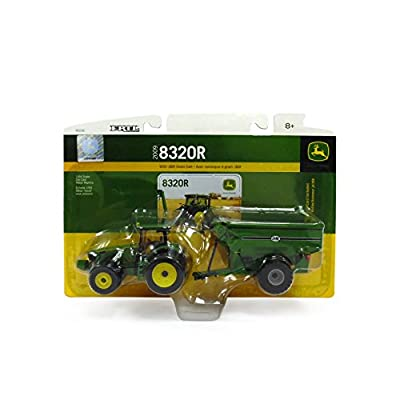 Ertl John Deere 8320R Tractor With J & M Grain Cart, 1:64 Scale: Toys & Games
