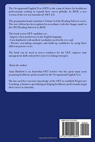 OET Preparation Book: Reading Sub-test, Volume 2: Anna