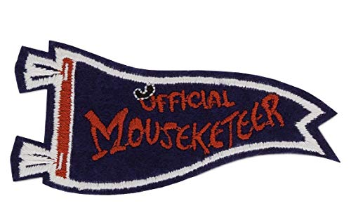 Disney Mickey Mouse Club Official Mouseketeer Pennant Patched Patch Embroidered