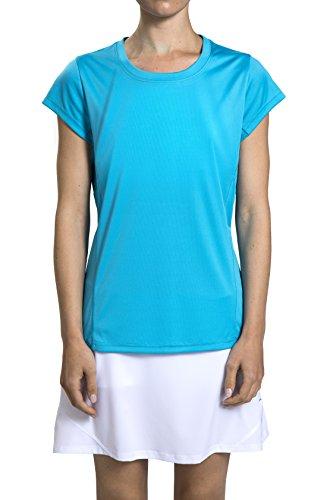 Prince Women's Keyhole Back Short Sleeve Athletic Tee Shi...