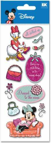 A Touch Of Disney Dimensional Stickers-All Dolled Up