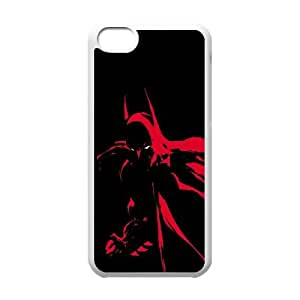 Batman Red Light iPhone 5c Cell Phone Case White&Phone Accessory STC_061149