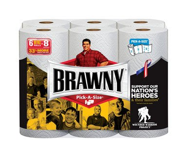 Brawny Paper Towels 2 102 sheet 6 roll Pack-Mfg# 43910 - Sold As 3 Units