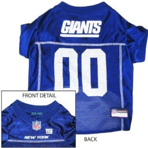 2c0347d2a Image Unavailable. Image not available for. Color  New York Giants Dog Pet  Jersey Shirt Officially Licensed NFL Extra Large ...