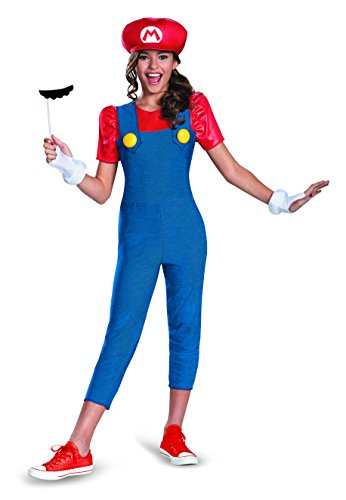 Mafia Girl Costumes (Nintendo Super Mario Brothers Mario Tween Costume, Medium/7-8)