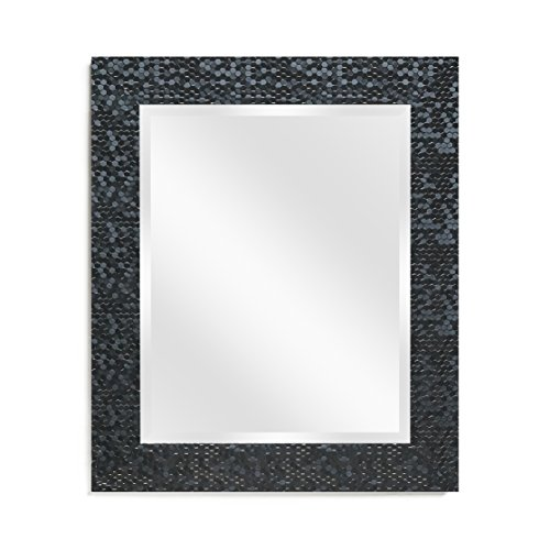 (Wall Mirror - Decorative for Bathroom Entryway or Bedroom, Black 21