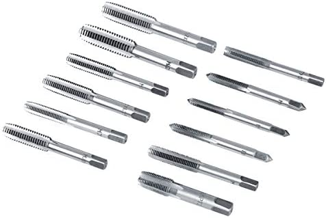 Borlai 40Pcs M3-M12 Screw Nut Tap and Die Set with Wrenches and Thread Gauge Heavy Duty Hand Tools