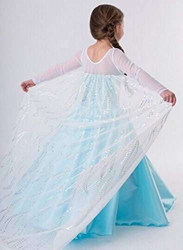 Ice Princess Frozen Snow Queen Elsa Party Cosplay Costume Dress Style2(7-8 Year)