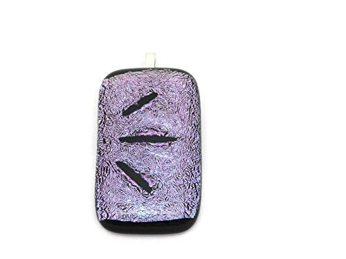 Purple Dichroic Glass Pendant Necklace