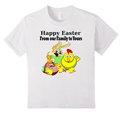 [Kids Happy Easter From Our Family To Yours Family Matching Shirts 6 White] (Social Media Sites Costumes)